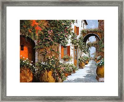 La Strada Al Sole Framed Print by Guido Borelli