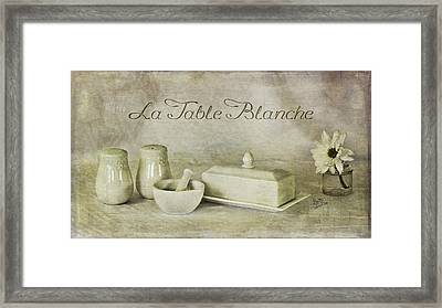 La Table Blanche - The White Table Framed Print