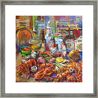 La Table De Fruits De Mer Framed Print by Dianne Parks