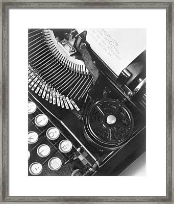 La Tecnica - The Typewriter Of Julio Framed Print