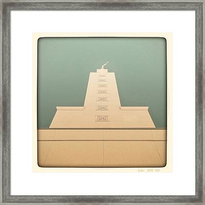 L.a. Temple Green Framed Print