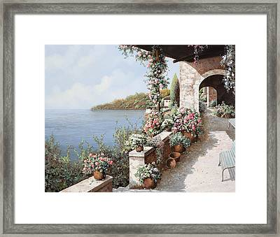 La Terrazza Framed Print by Guido Borelli