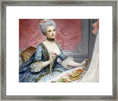 La Toilette Framed Print by Lucius Rossi