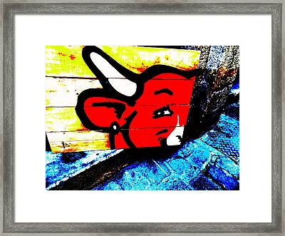 La Vache Qui Rit Art  Framed Print by Funkpix Photo Hunter