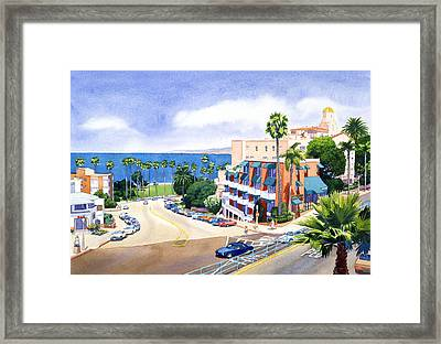 La Valencia And Prospect Park Inn Lj Framed Print by Mary Helmreich