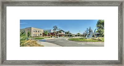 La Valley College Valley Glen Ca Panorama Framed Print