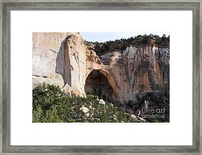 La Ventana Arch Land Bridge El Malpais National Monument New Mexico Framed Print