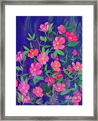 Framed Print featuring the mixed media La Vie En Rose by Teresa Ascone