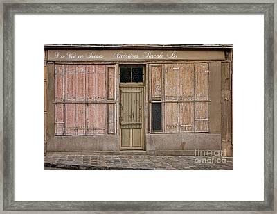 La Vie En Roses Is Closed Framed Print by Olivier Le Queinec