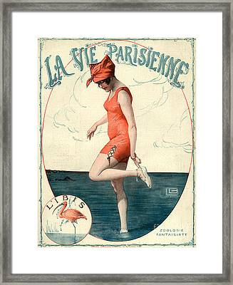 La Vie Parisienne 1910s France Georges Framed Print by The Advertising Archives