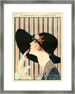 La Vie Parisienne 1918 1910s France G Framed Print by The Advertising Archives