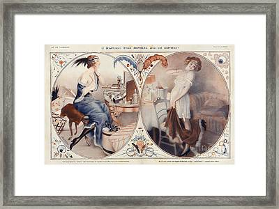 La Vie Parisienne 1922 1920s France Leo Framed Print by The Advertising Archives
