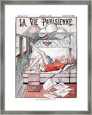 La Vie Parisienne, 1922 Framed Print