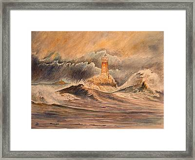 La Vieille Lighthouse Framed Print