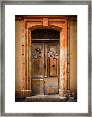 La Vieille Porte Framed Print