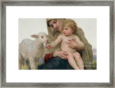La Vierge A Lagneau Framed Print by William-Adolphe Bouguereau