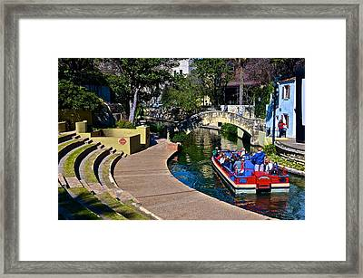 Framed Print featuring the photograph La Villita Outdoor Theater by Ricardo J Ruiz de Porras