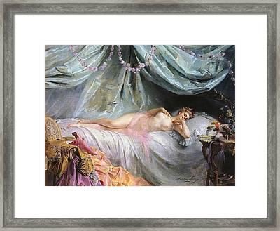 La Volupte Framed Print by Madeleine Jeanne Lemaire