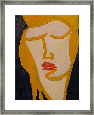 L.a. Woman Framed Print by Shea Holliman