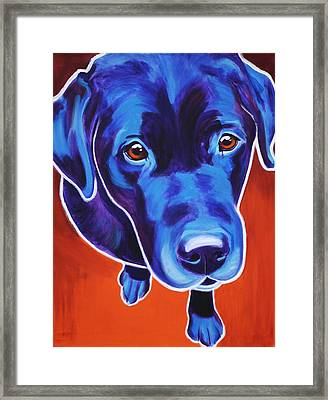 Lab - Olive Framed Print
