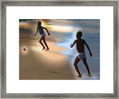 Framed Print featuring the painting Labadee Beach by Bob Salo