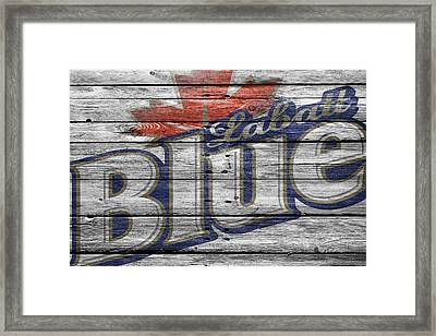 Labatt Blue Framed Print by Joe Hamilton