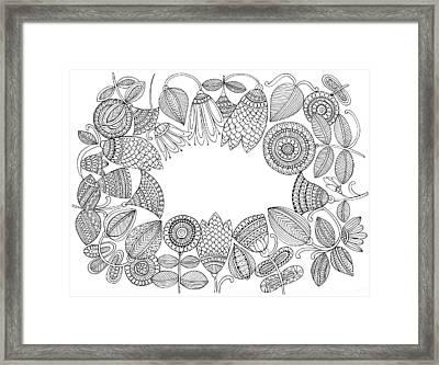 Label Pattern 5 Framed Print by Neeti Goswami