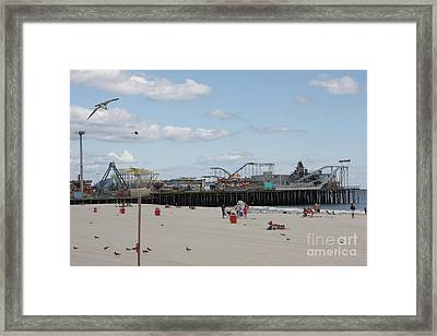 Labor Day At The Pier  Framed Print by Laura Wroblewski