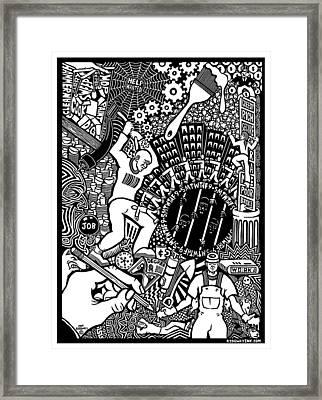 Labor Daze Framed Print