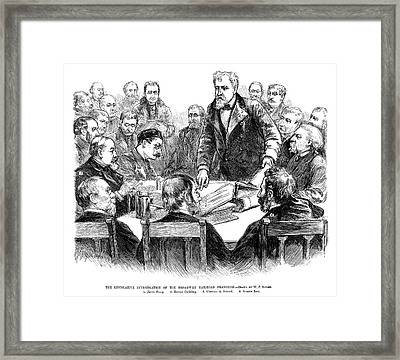 Labor Investigation, 1886 Framed Print