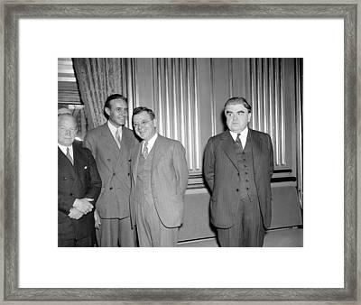 Labor Leaders, 1937 Framed Print