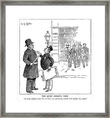 Labor Movement Cartoon Framed Print by Granger