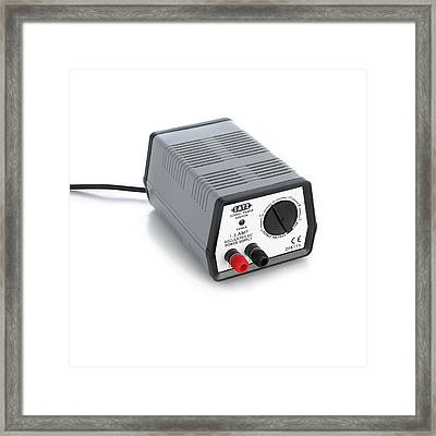Laboratory Dc Power Supply Framed Print by Science Photo Library