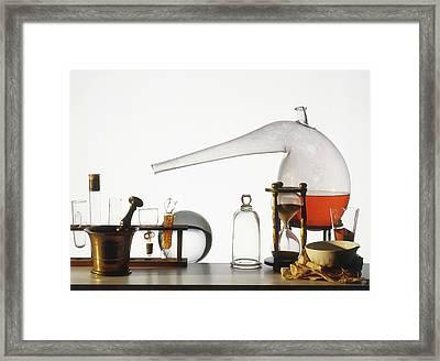 Laboratory Equipment Framed Print by Dorling Kindersley/uig