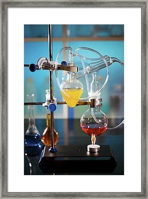 Laboratory Flasks Framed Print