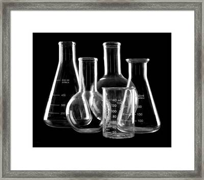 Laboratory Glassware Framed Print by Jim Hughes