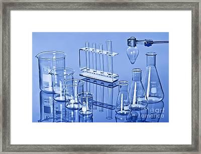 Laboratory Glassware Framed Print by Martyn F. Chillmaid