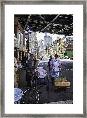 Laboring Under The Bridge 2 Framed Print by Madeline Ellis
