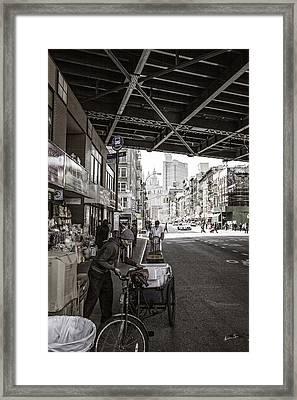 Laboring Under The Bridge  Framed Print by Madeline Ellis