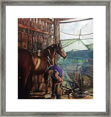 Labour Of Love Framed Print by Judith Selcuk