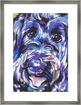 Labra Doodly Do Framed Print by Lea S