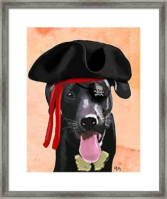 Labrador Pirate Framed Print by Kelly McLaughlan