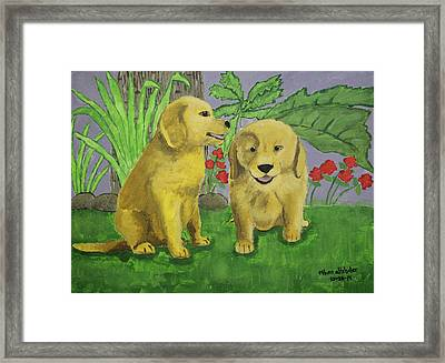 Labrador Puppies Framed Print by Ethan Altshuler