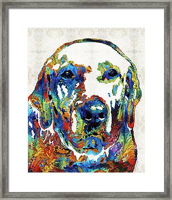 Labrador Retriever Art - Play With Me - By Sharon Cummings Framed Print by Sharon Cummings