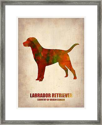 Labrador Retriever Poster Framed Print by Naxart Studio