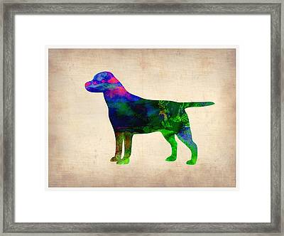 Labrador Retriever Watercolor 2 Framed Print by Naxart Studio