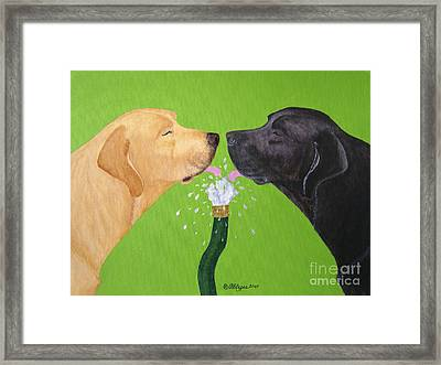 Labs Like To Share 2 Framed Print