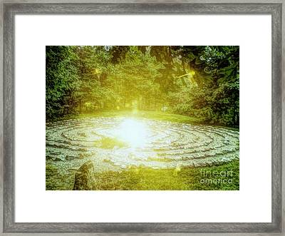 Labyrinth Myth And Mystical Framed Print by Becky Lupe