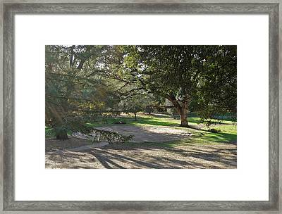 Labyrinth Retreat Framed Print by Michele Myers