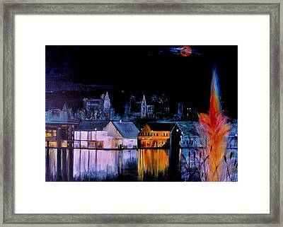 Lac  Brome   Nightscape Framed Print by Rick Todaro
